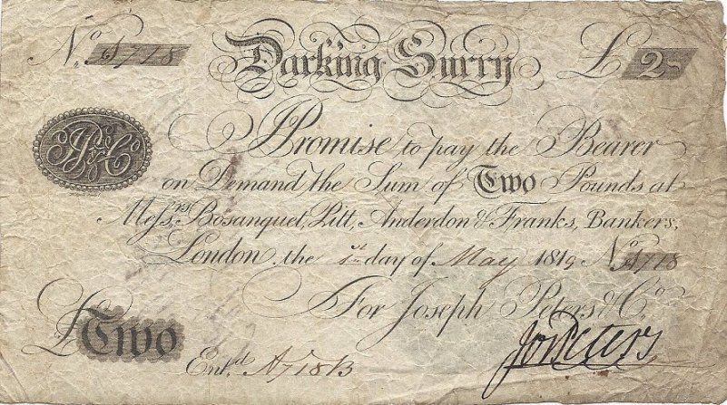 surrey provincials - Pam West British Bank Notes