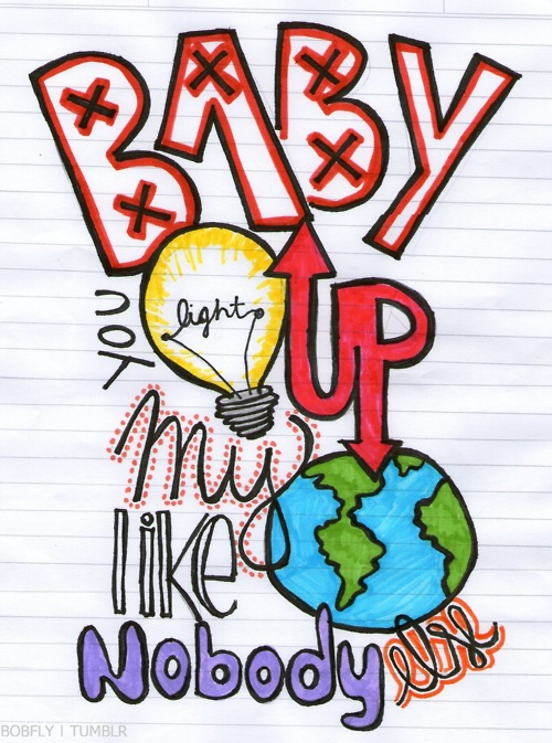 One Direction Fan Art: baby you light up my world like no body else