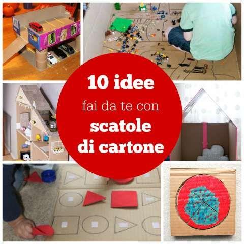 10 idee fai da te con scatole di cartone lavoretti for Creare case