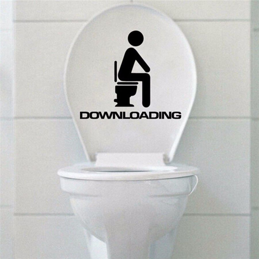 FUNNY JOKE QUOTE WALL ART DECAL STICKER VINYL BATHROOM TOILET CONSERVE.