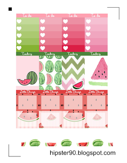 Free Watermelon Planner Stickers ~ Hipster's World
