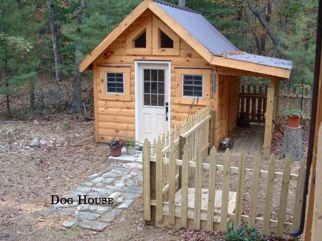 Cute Dog House With Side Yard.