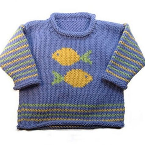 Knitting Pattern Roll Neck Jumper : Roo Designs - Fish Roll-Neck baby sweaters Pinterest Roll neck, Fish an...