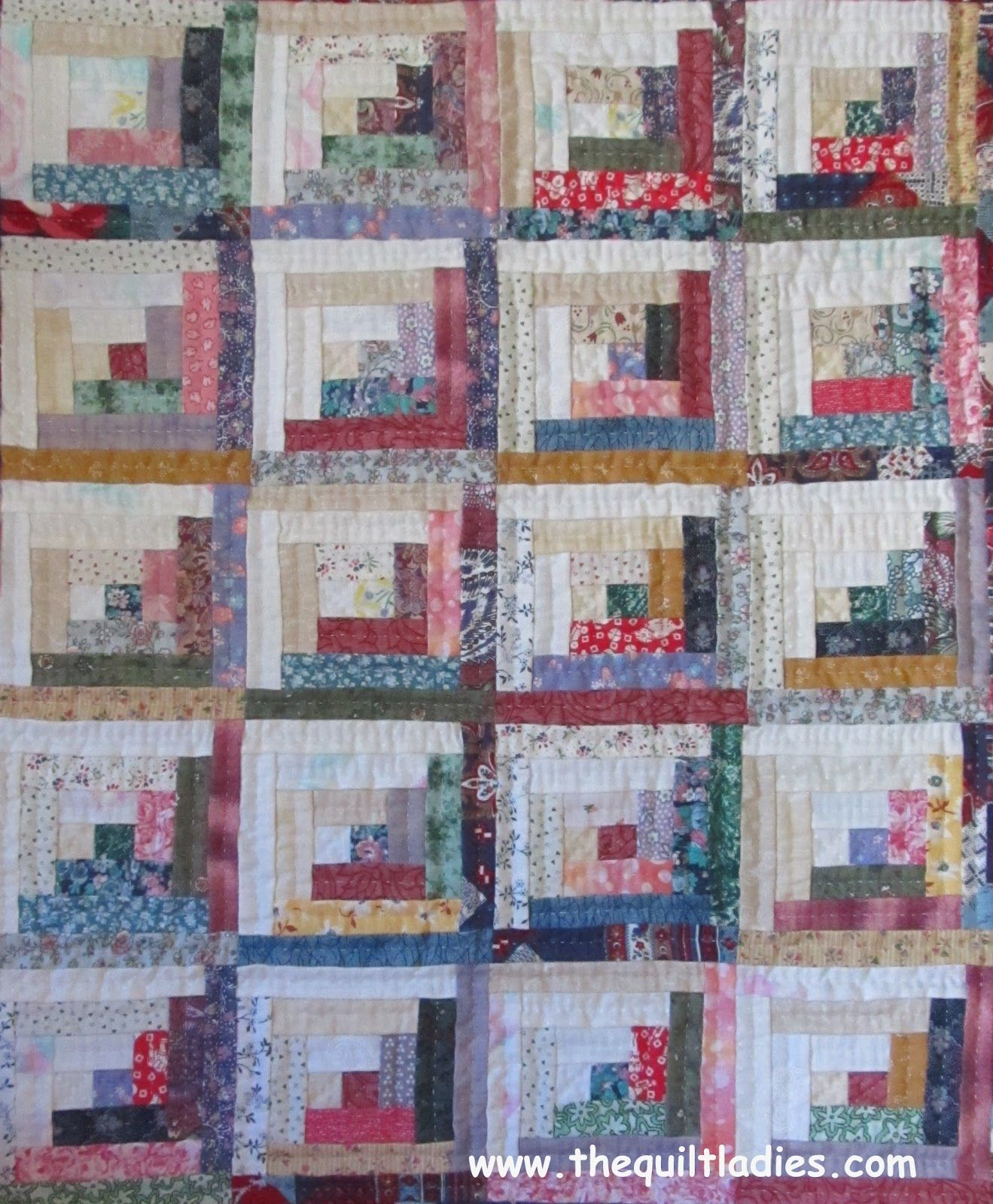 Incroyable FREE Mini Log Cabin Quilt Pattern From The Quilt Ladies