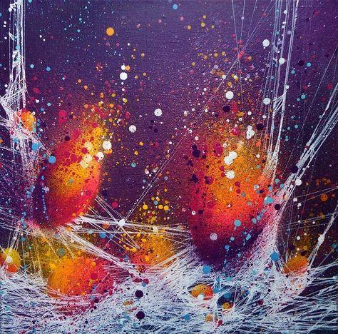 Tuto  peinture semi-abstraite en technique mixte par Cynthia