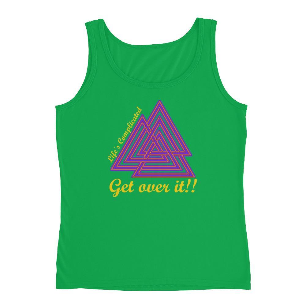 KarmaGear-T-Shirt Tank Top-Valknut-Cotton-For Women
