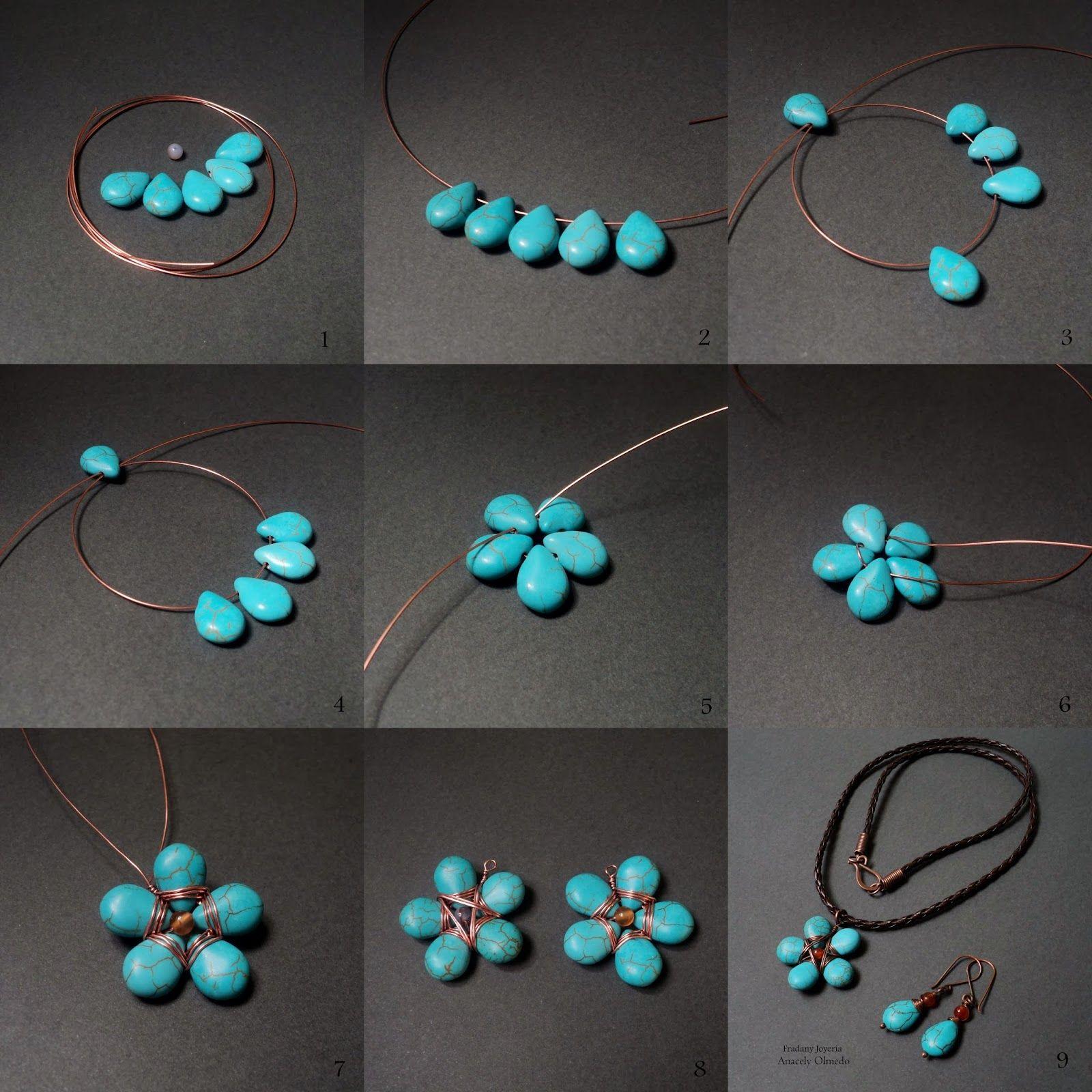 Fradany : Tutorial: Flor de Piedras y Alambre | Jewelry Making ...