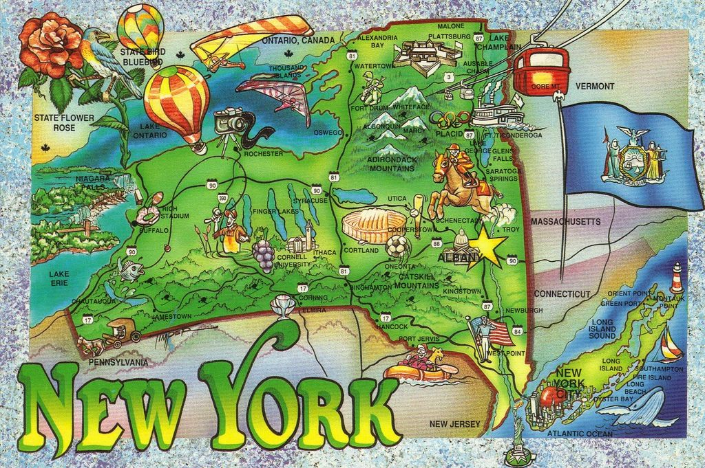 State Map Of New York.New York State Kids Map Related Posts New York Population