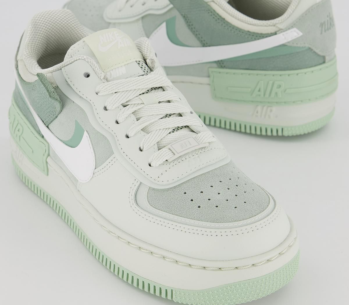 Nike Air Force 1 Shadow Trainers Spruce Aura White Pistachio Frost ...