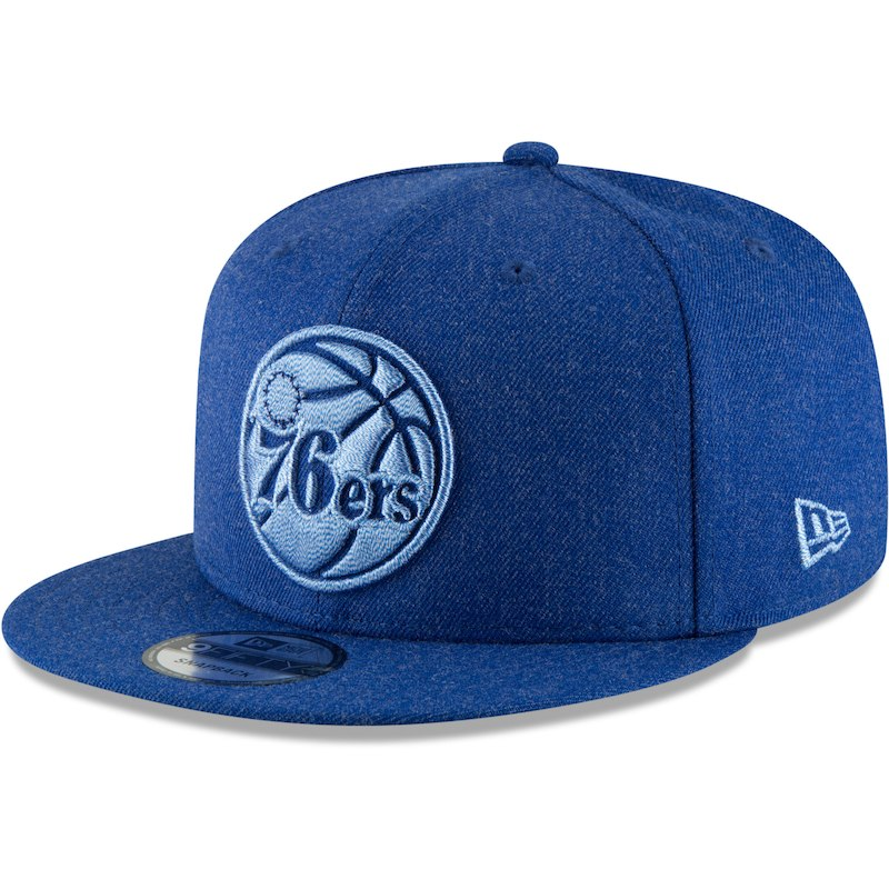 size 40 e8ebd b6d13 Philadelphia 76ers New Era Youth Junior Twisted Frame 9FIFTY Adjustable Hat  – Royal
