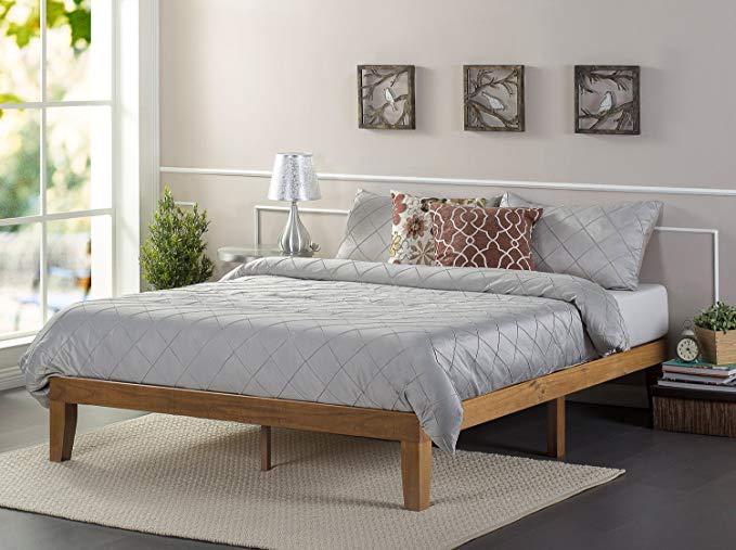 Amazon Com Zinus Alexia 12 Inch Wood Platform Bed No Box Spring