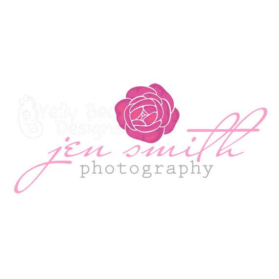 Premade Logo & Watermark, Simple Rose, good for photography, small business, boutiques and other shops