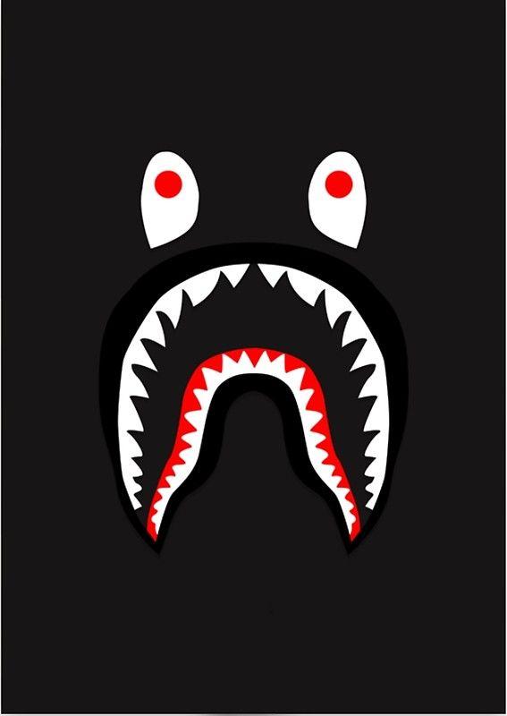Bape Shark Pattern Merchandise Bape Shark Wallpaper Bape Wallpaper Iphone Bape Shark
