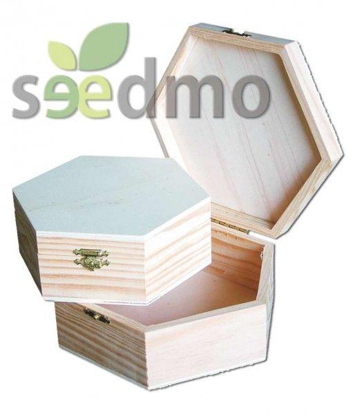 Muebles y decoraci n juego de tres cajas exagonales por for Compra de muebles por internet
