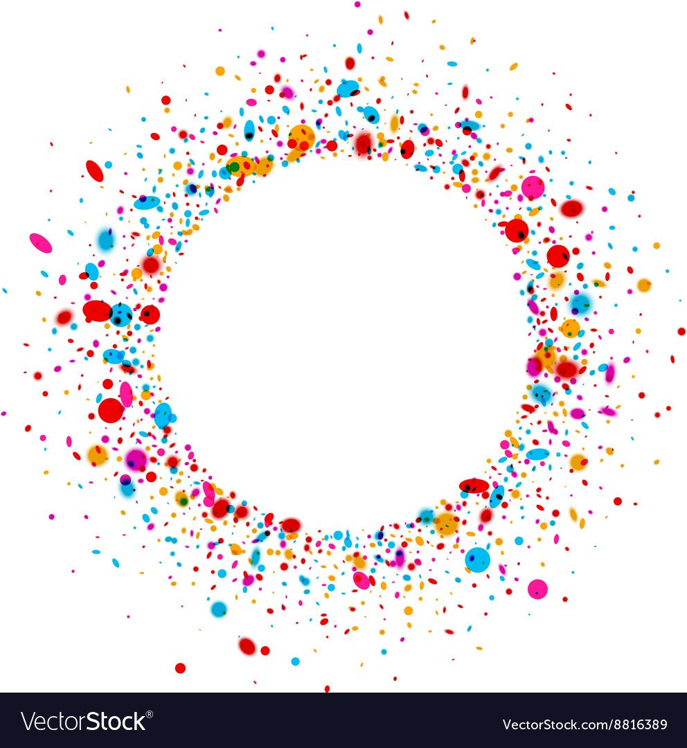 Round background with drops vector image on