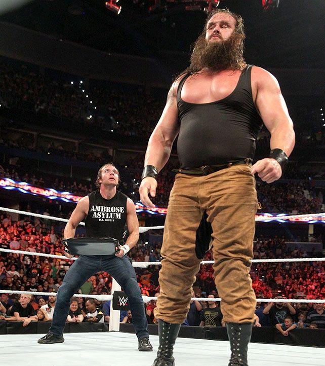 Raw 8/31/15: Dean Ambrose vs Braun Strowman   Wwe dean ...