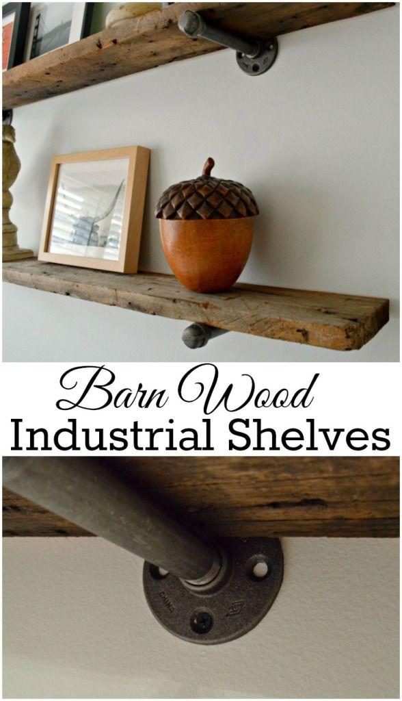 Diy Barn Wood Shelves Barnwood