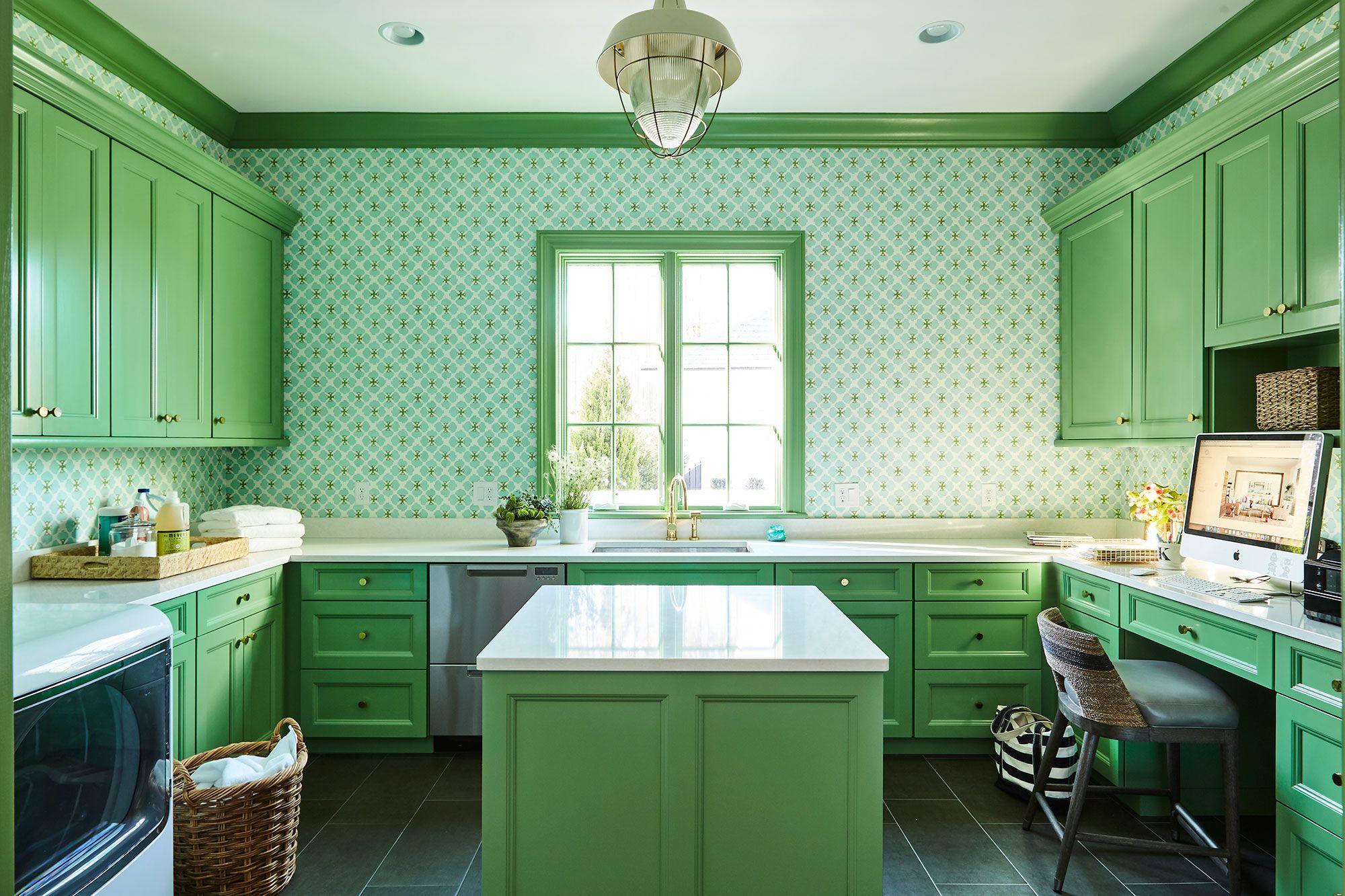 green laundry room homedecor interiordesign