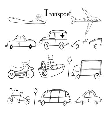 different transportation coloring pages - photo#3