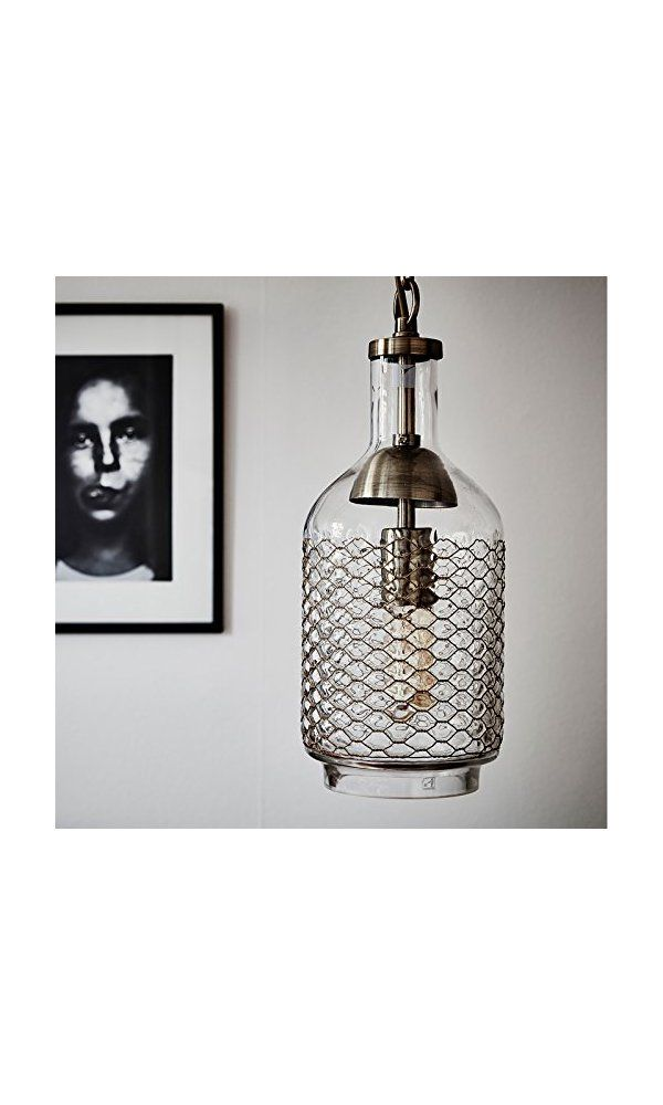 Amazing CASAMOTION Industrial Edison Vintage Hand Blown Glass Pendant Light 1 hanging light with Brass Wire New - Luxury brass and glass pendant light For Your House