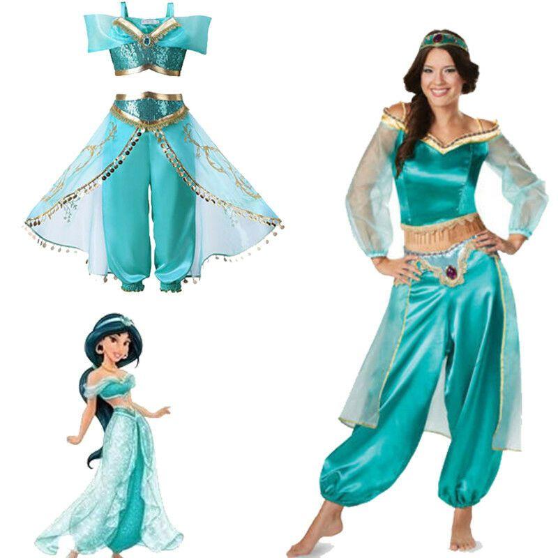 Women s Aladdin Jasmine Princess Dancing Skirt Dress Props Party Cosplay  Costume Jasmine Princess Dancing 7da9b778a