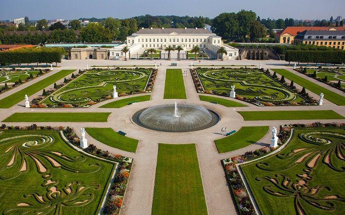 Elegant Le ch teau d uherrenhausen Grosser garten grand jardin jardins royaux herrenhausen