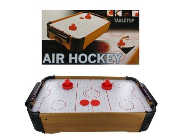 Air Hockey Tabletop Game Sports Table Top Room Arcade Kids Pucks Set Box