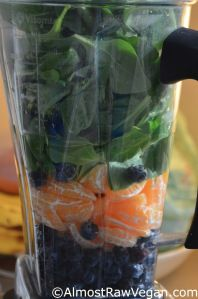AlmostRawVegan.com - Blueberry Clementine Smoothie, can't get much easier and more delicious :-) xox