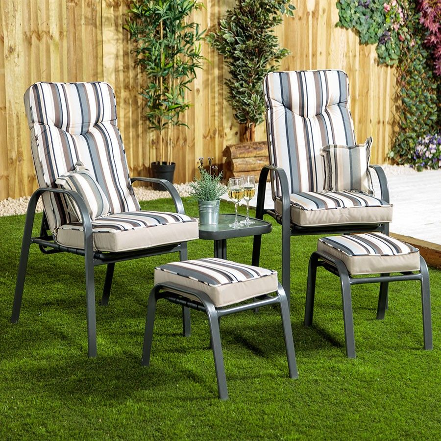 Provence Conversation 2Seater Lounge Patio Set Grey