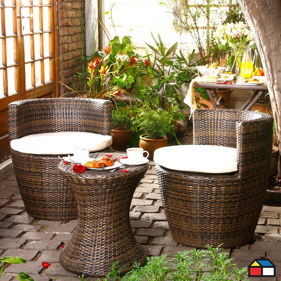 Juego De Terraza Saint Tropez De Aluminio Con Ratan Pe Muebles De Mimbre Casas Sillas