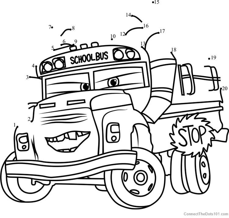 Miss Fritter From Cars 3 Dot To Dot Coloring Pages Birthday Coloring Pages Coloring Pages Inspirational