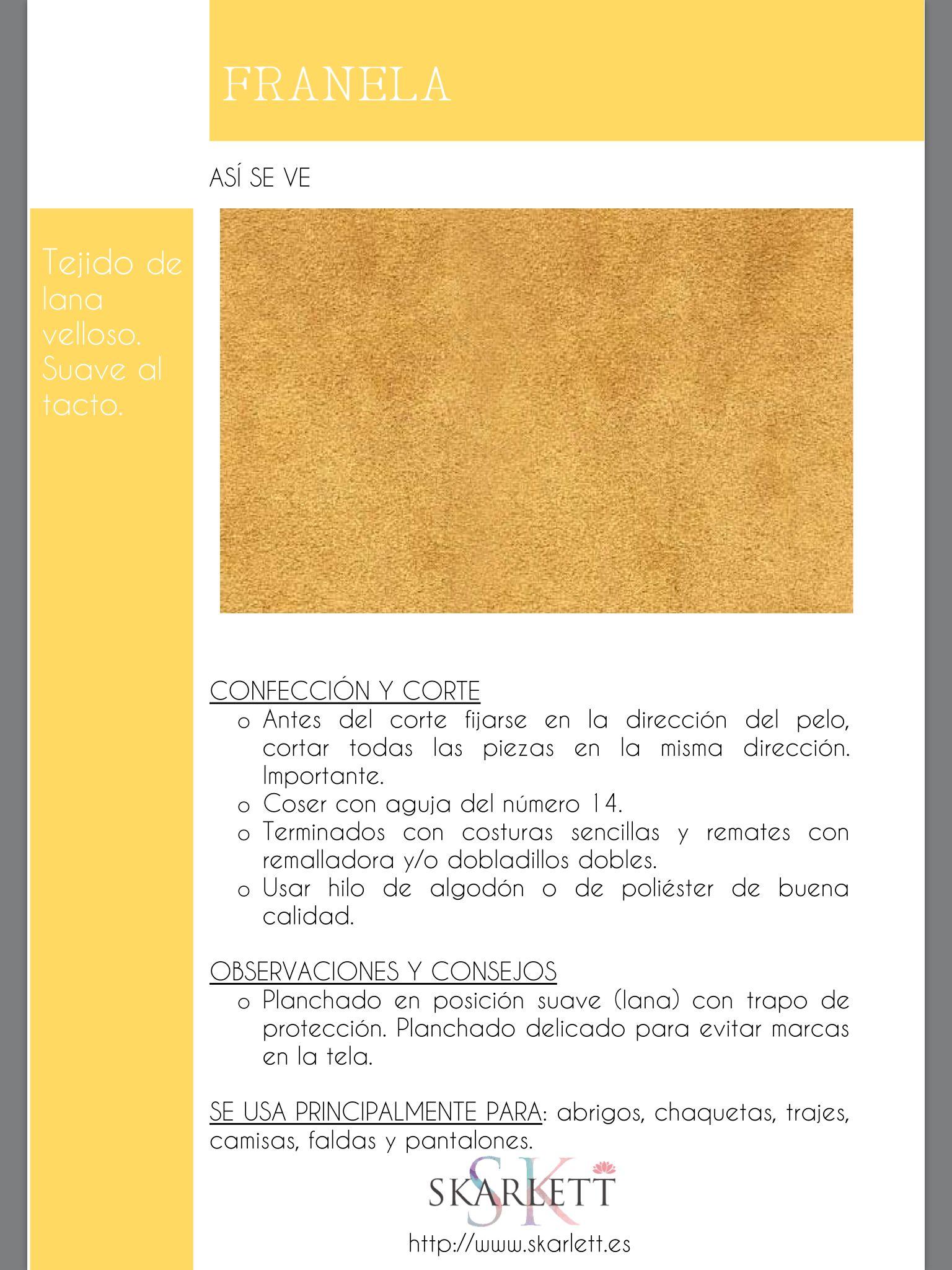 El dossier de las telas Skarlett | confeccion | Pinterest | Tela ...