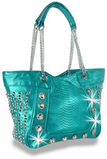 9773ff372c Crystal Rhinestone Metallic Blue Teal Fashion Handbag Purse www ...