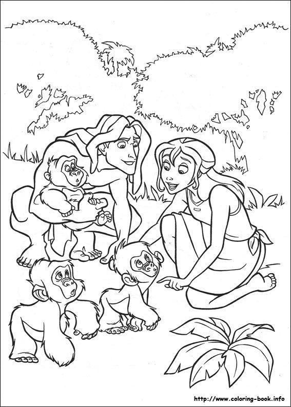 Free Disney Tarzan Printables Coloring Pages And Activities Cartoon Coloring Pages Disney Princess Coloring Pages Coloring Pages