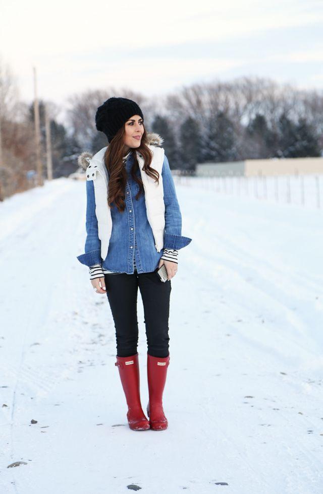 22197e19013 blue monday. (Corilynn) | wear: fall/winter | Hunter boots outfit ...