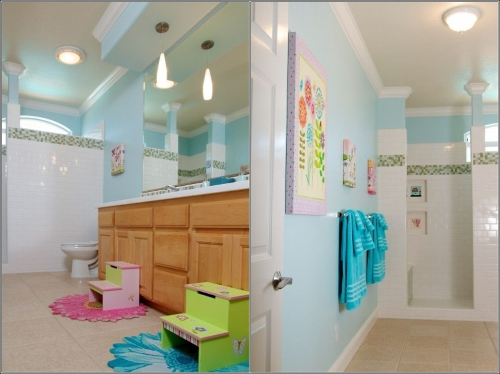 Idées de salle de bain pour les enfants Design lab, Light colors