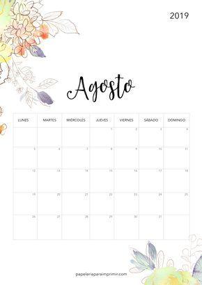 Agosto Calendario.Calendario Para Imprimir 2019 Agosto Artofit