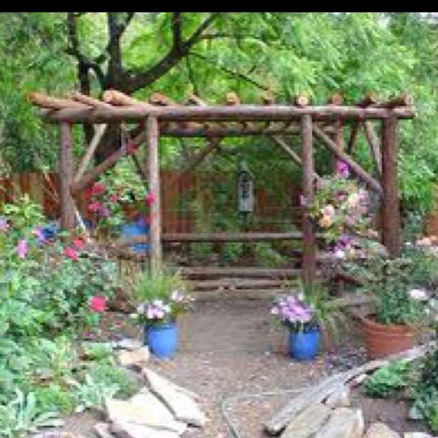 Rustic garden gazebo Ideas para nuestra casa Pinterest Casa de