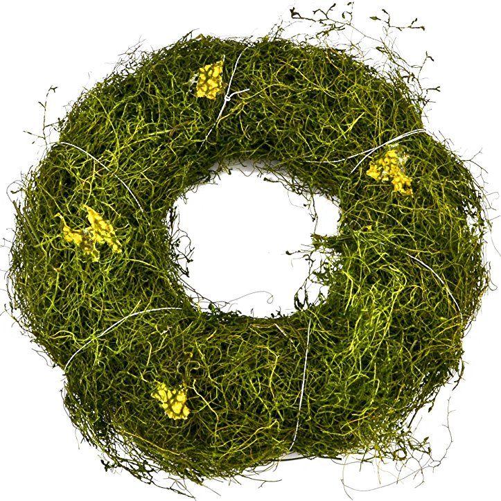 Kranz Natural Deko Gras grün Tischdeko Frühjahr Ostern (21x21x5cm