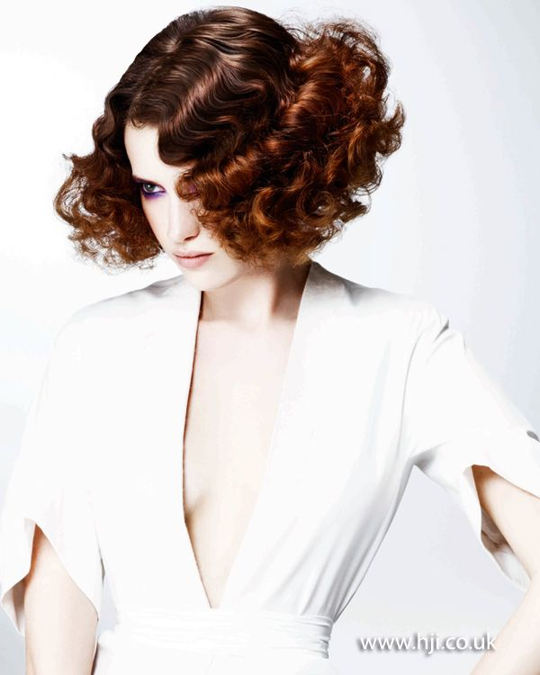 2012 womens curled hairstyle brunette hairstyle