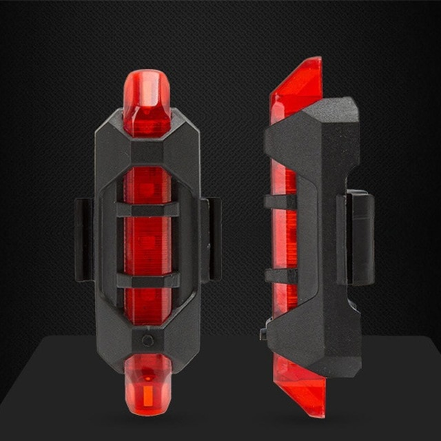 Bike Tail Light USB Rechargeable Warning Safety Rear Light LED Flash Light