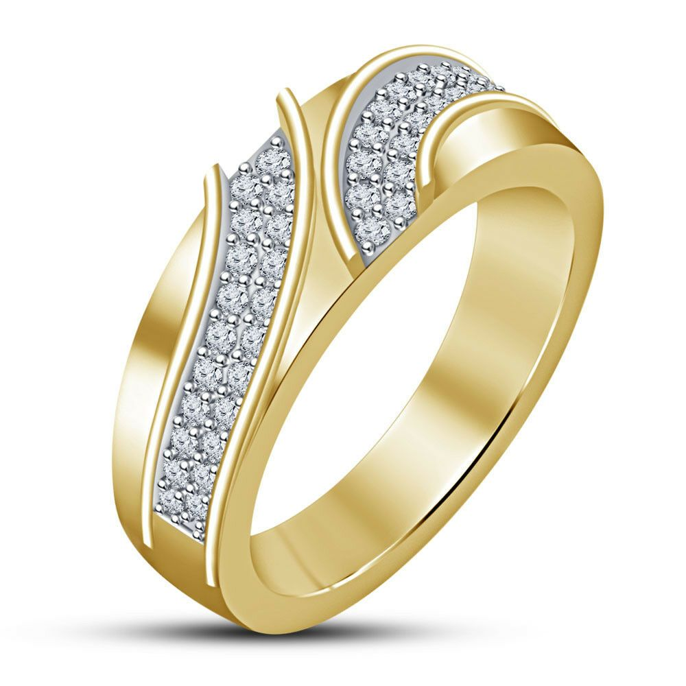 1.00 Ct Round-Cut Diamond 14k Yellow Gold Finish Solitaire Engagement Ring