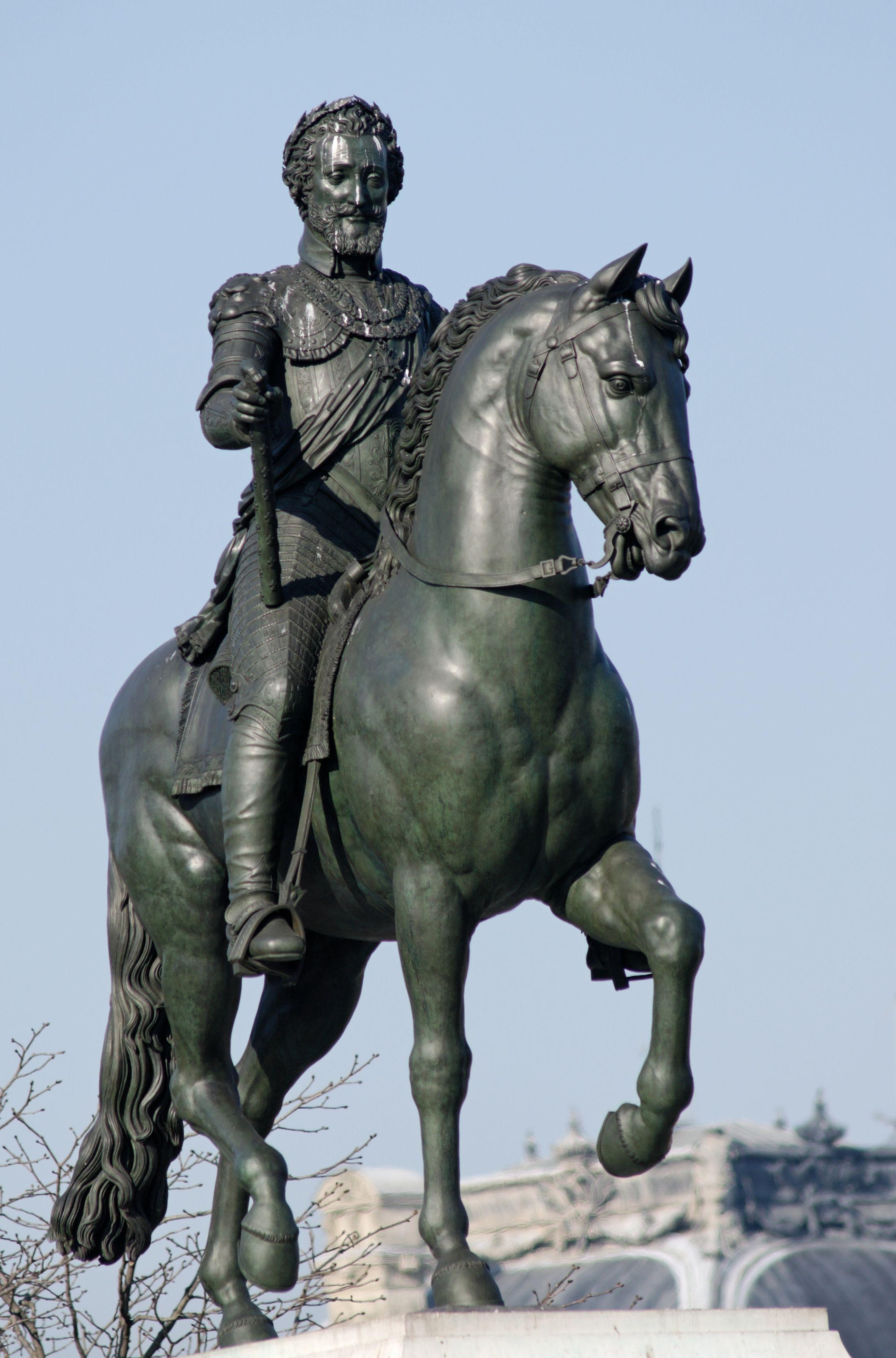 The equestrian statue of Henry IV, Pont Neuf, Paris ...
