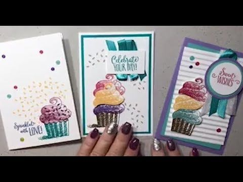 FB Live Replay Dec 5th Stampin Up! Saleabration 2018 Hello Cupcake With DonnaG! - YouTube