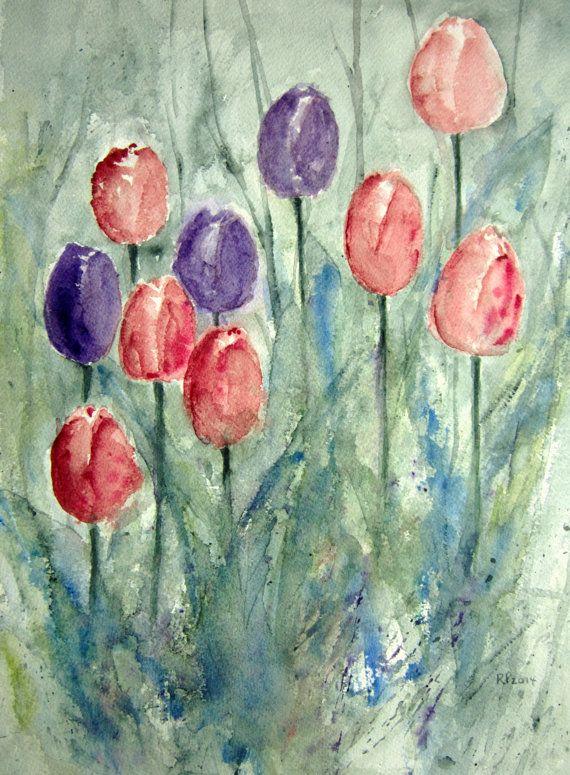Original Watercolor Landscape Painting 15x11 Vertical Watercolor