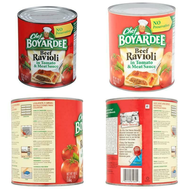 Chef Boyardee In Tomato Meat Sauce Beef Ravioli 108 Oz Store New Arrivals Add To Favorite View Feed In 2020 Chef Boyardee Meat Sauce Chicken Alfredo Pasta