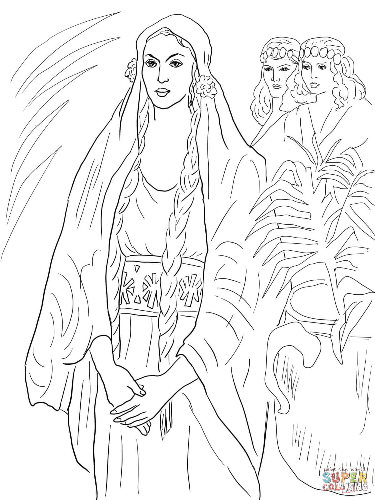 Esther the Queen | Super Coloring | Coloring Pages | Pinterest ...