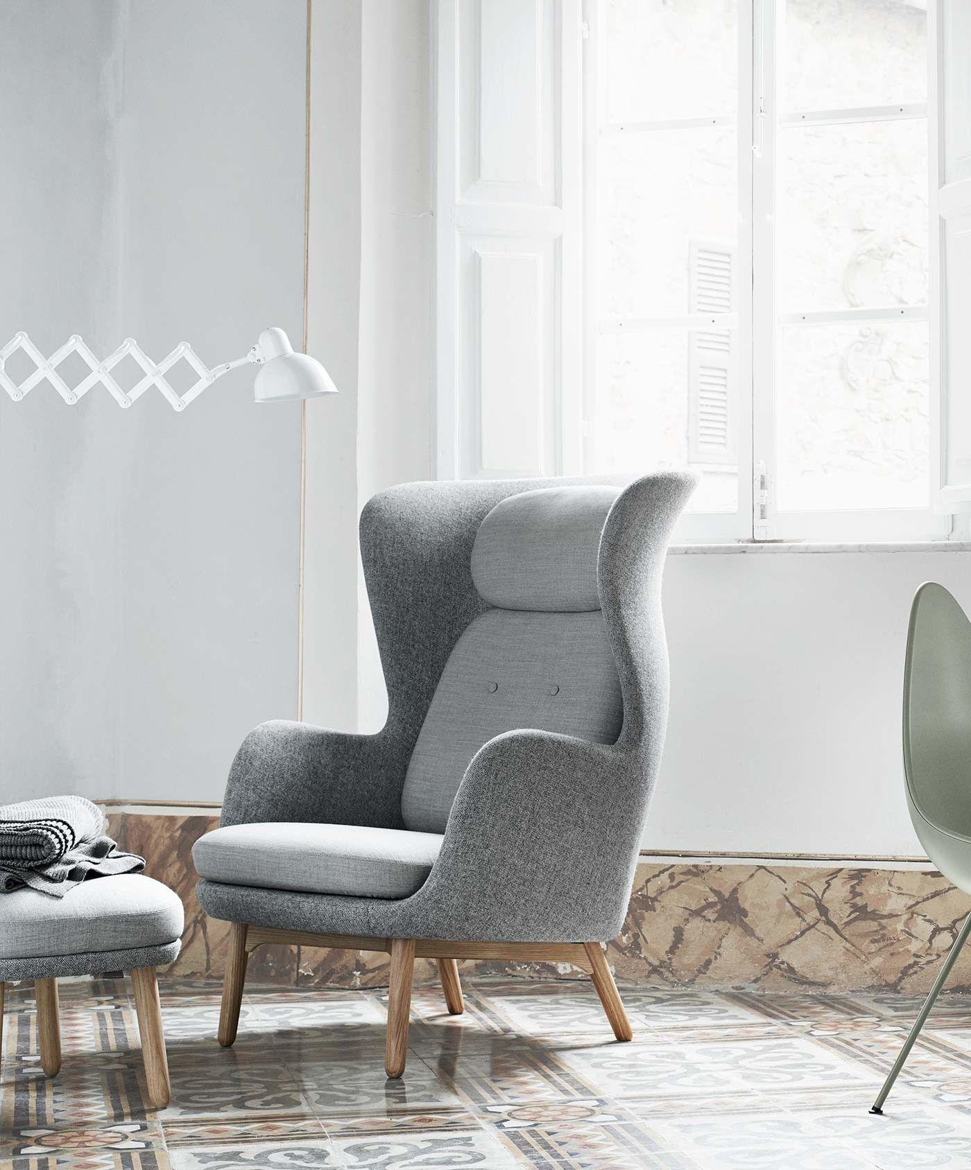 fritz hansen ro lounge stoel sterkonline i pinterest. Black Bedroom Furniture Sets. Home Design Ideas