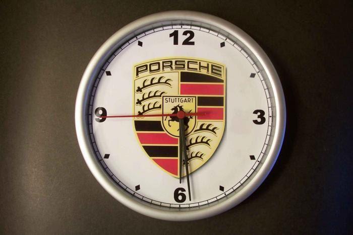 Porsche Emblem Wall Clock