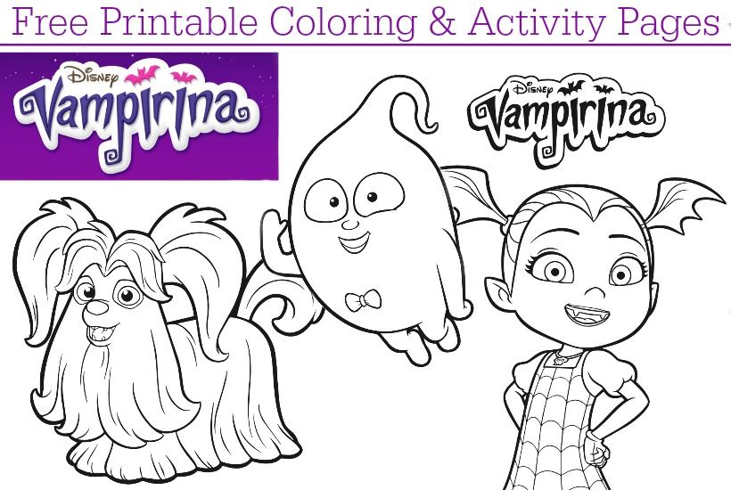 Download free printable Disney Junior Vampirina coloring pages + ...